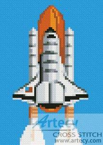 cross stitch pattern Mini Shuttle