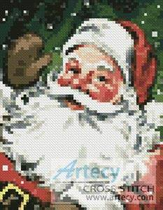 cross stitch pattern Mini Santa 3