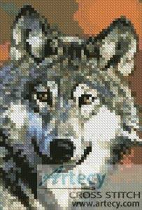 cross stitch pattern Mini Wolf 2