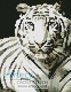 cross stitch pattern Mini White Tiger