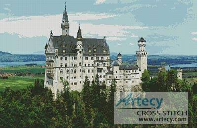 cross stitch pattern Neuschwanstein Castle