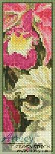 cross stitch pattern Orchids Bookmark
