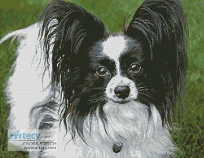cross stitch pattern Black and White Papillon