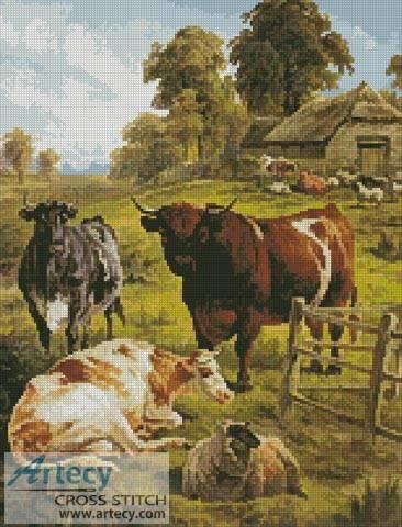 cross stitch pattern A Pedigree Bull