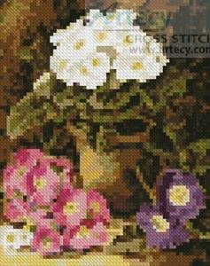 cross stitch pattern Mini Potted Flowers