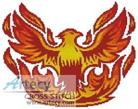 cross stitch pattern Phoenix