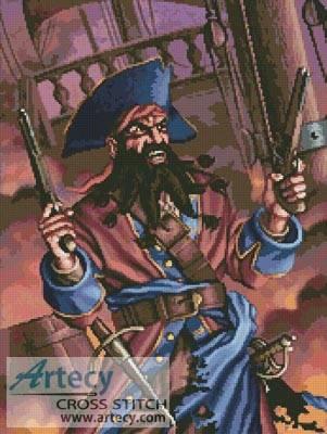 cross stitch pattern Pirate