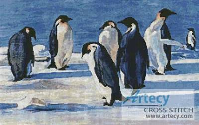 cross stitch pattern Penguins 1