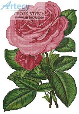 cross stitch pattern Pink Roses Print