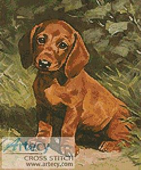 cross stitch pattern Puppy