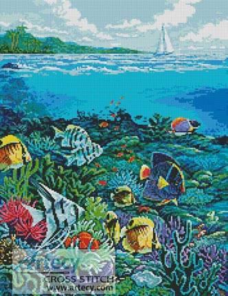 cross stitch pattern Reef Painting