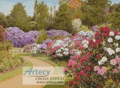cross stitch pattern The Rhododendron Walk