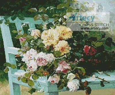 cross stitch pattern Romantic Roses