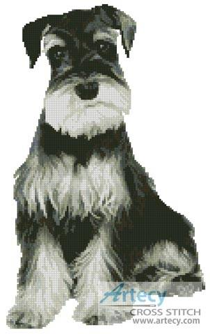 cross stitch pattern Schnauzer
