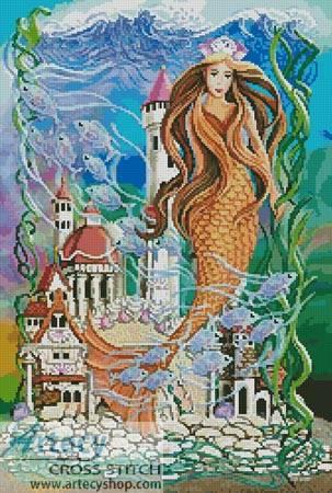 cross stitch pattern Sea Princess