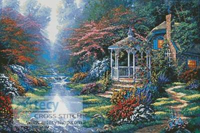 cross stitch pattern Secret Hideaway