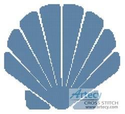 cross stitch pattern Shell Design 1