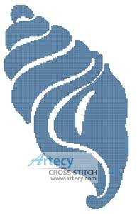 cross stitch pattern Shell Design 2