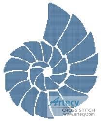 cross stitch pattern Shell Design 3