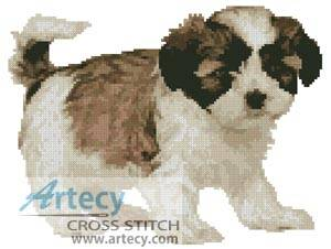 cross stitch pattern Shih Tzu Puppy