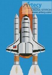 cross stitch pattern Shuttle
