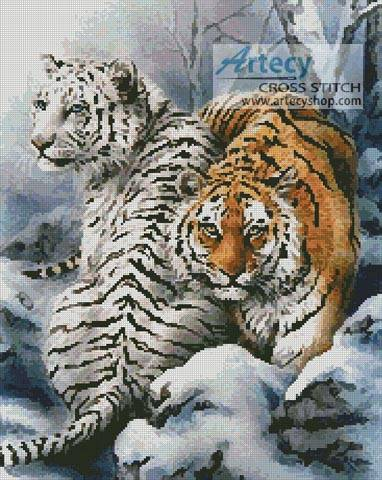 cross stitch pattern Siberian Winter