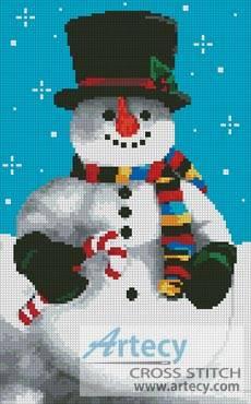 cross stitch pattern Snowman 2