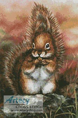 cross stitch pattern Squirrel