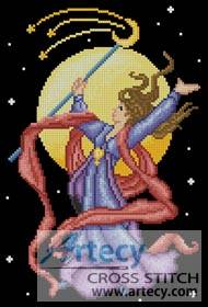 cross stitch pattern Sorceress 2