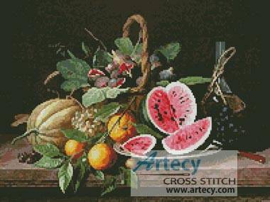 cross stitch pattern Still Life with Fruit