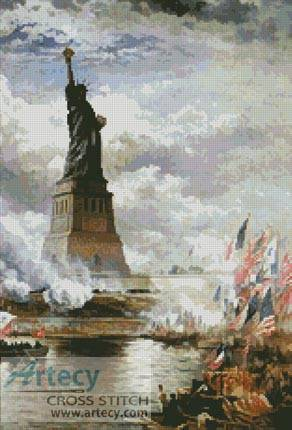 cross stitch pattern Unveiling the Statue of Liberty
