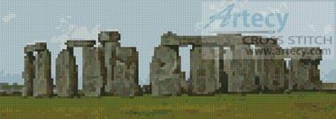 cross stitch pattern Stonehenge