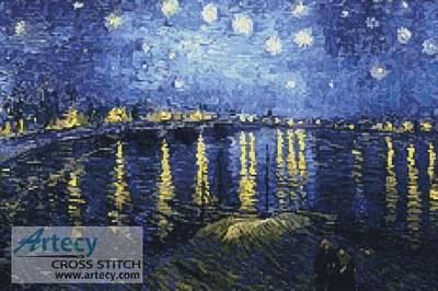cross stitch pattern Starry Night over the Rhone