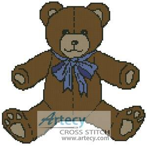 cross stitch pattern Teddy