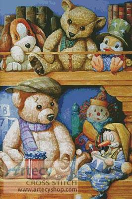 cross stitch pattern Teddies and Friends