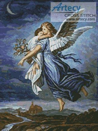 cross stitch pattern The Guardian Angel