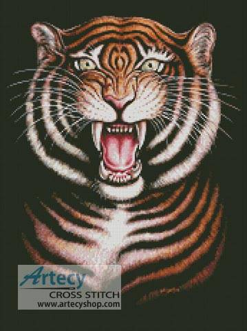 cross stitch pattern Tiger Painting