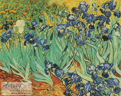 cross stitch pattern The Irises