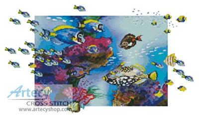 cross stitch pattern Clown Triggerfish