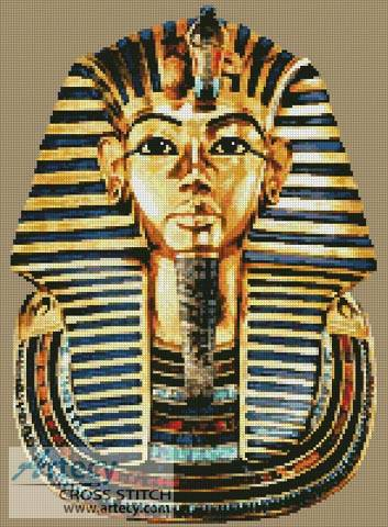 cross stitch pattern Tutankhamun
