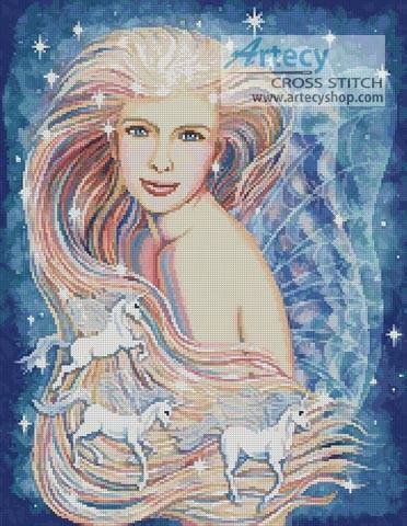 cross stitch pattern Unicorn Dreams