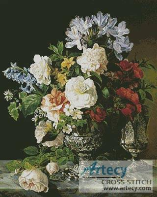 cross stitch pattern Vase of Flowers 2