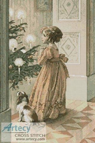 cross stitch pattern Victorian Christmas 3