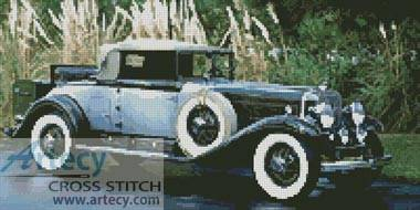 cross stitch pattern Vintage Car 3