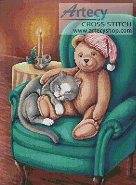 cross stitch pattern Waiting for Santa