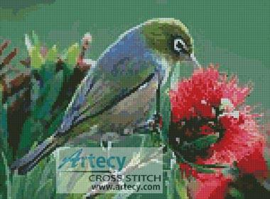 cross stitch pattern Wax Eye
