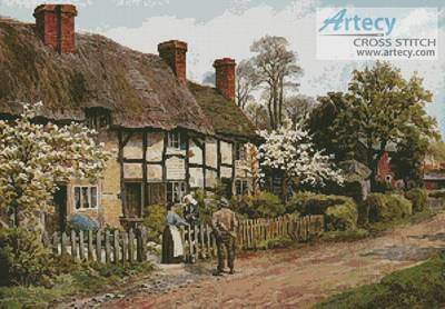 cross stitch pattern Welford on Avon  Gloucester