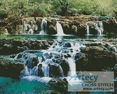 cross stitch pattern Waterfalls