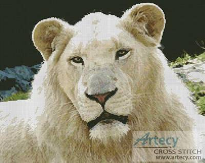 cross stitch pattern White Lion