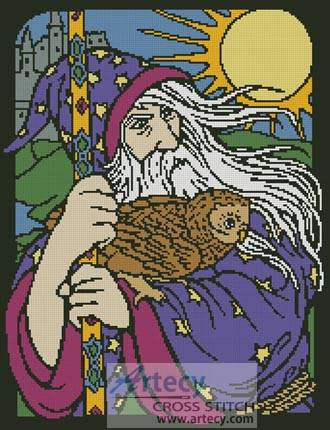 cross stitch pattern Wizard 1